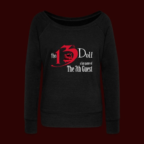 The 13th Doll Logo - Women's Wideneck Sweatshirt