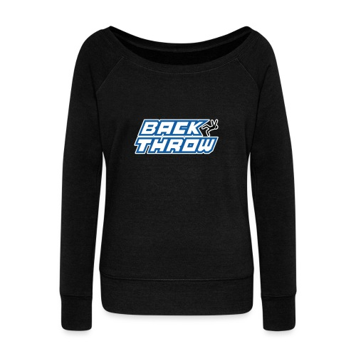 Back Throw Logo - Women's Wideneck Sweatshirt