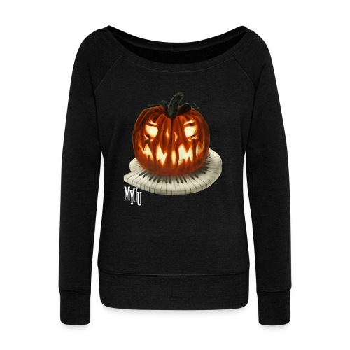 Piano Pumpkin - Women's Wideneck Sweatshirt