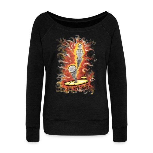 vive la résistance red - Women's Wideneck Sweatshirt