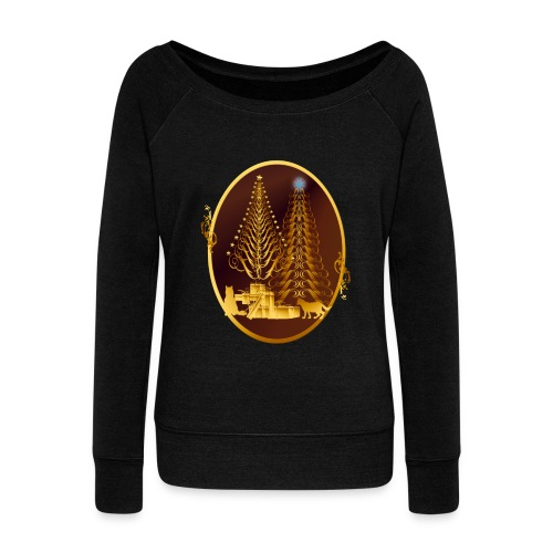 Golden Presents-Gold Kitties - Women's Wideneck Sweatshirt