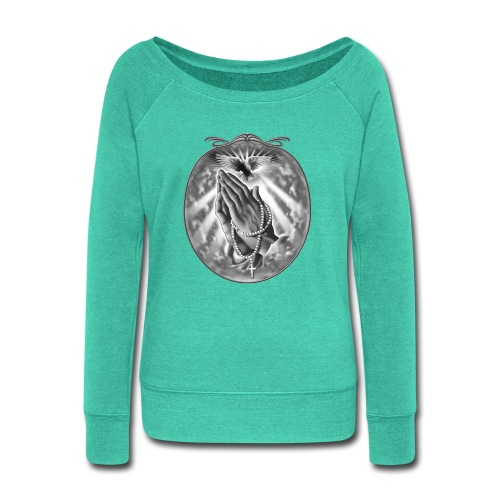 Praying Hands by RollinLow - Women's Wideneck Sweatshirt