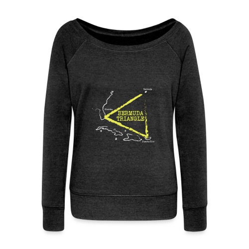 bermuda triangle - Women's Wideneck Sweatshirt