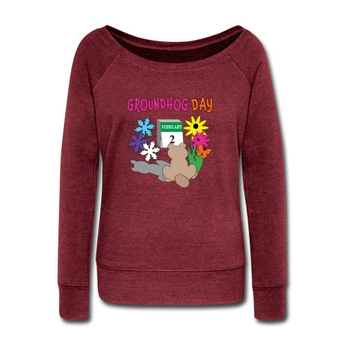 Groundhog Day Dilemma - Women's Wideneck Sweatshirt