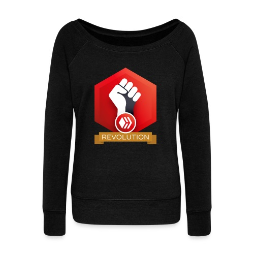 Hive Revolution Banner - Women's Wideneck Sweatshirt
