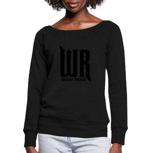 Wachler Records Dark Logo - Women's Wideneck Sweatshirt