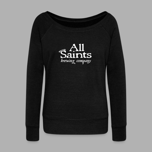 All Saints Logo White - Women's Wideneck Sweatshirt