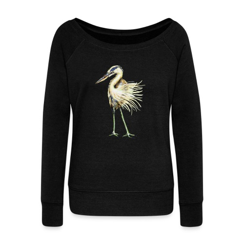Great Blue Heron - Women's Wideneck Sweatshirt