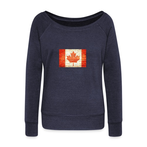 Canada flag - Women's Wideneck Sweatshirt