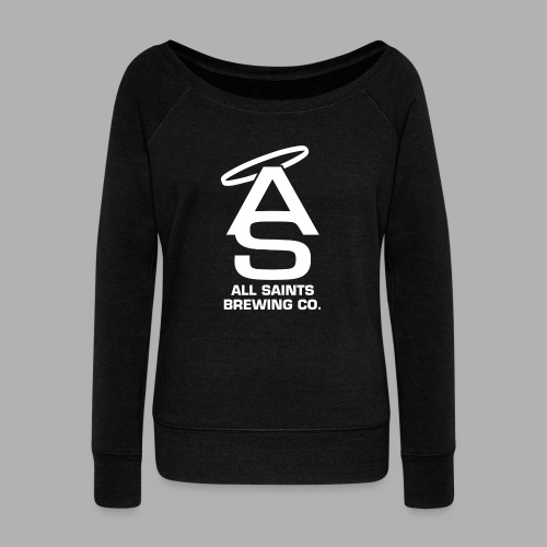 AS Logo white - Women's Wideneck Sweatshirt