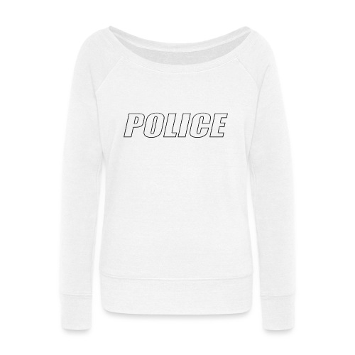 Police White - Women's Wideneck Sweatshirt