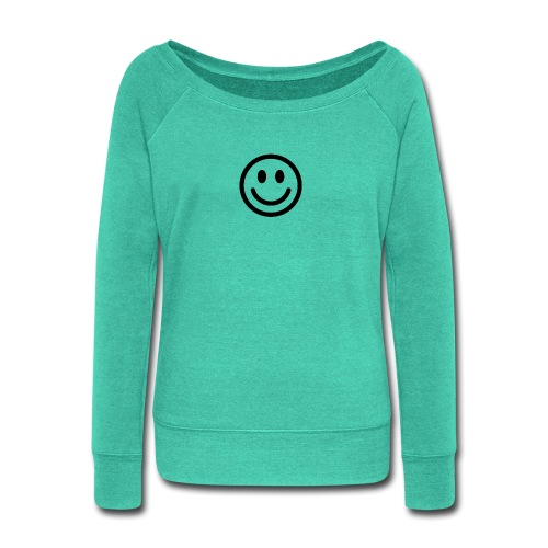 smile dude t-shirt kids 4-6 - Women's Wideneck Sweatshirt