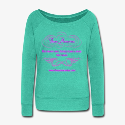 Those Memories logo - Women's Wideneck Sweatshirt