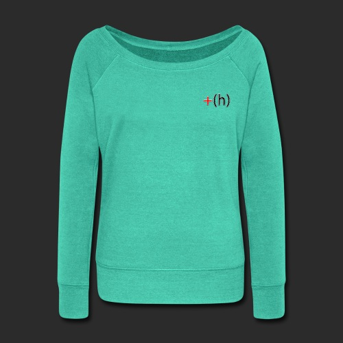 +(h) Red_Blk - Women's Wideneck Sweatshirt