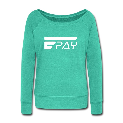 EUNOPAY LOGO WHITE - Women's Wideneck Sweatshirt