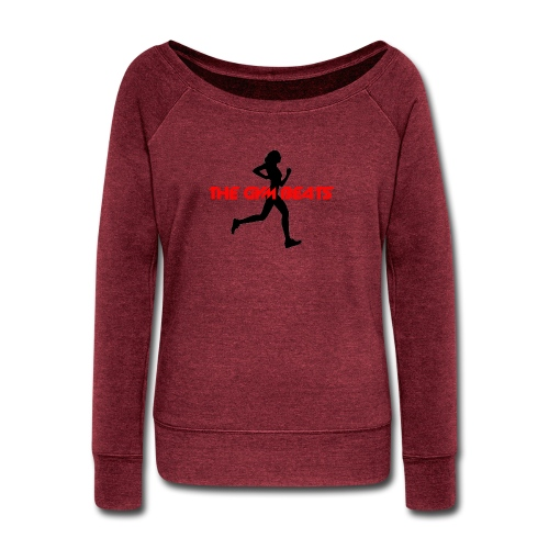 THE GYM BEATS - Music for Sports - Women's Wideneck Sweatshirt