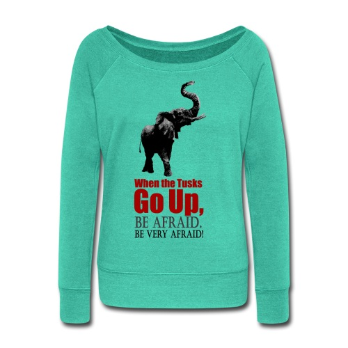 When the trunk goes up Be - Women's Wideneck Sweatshirt