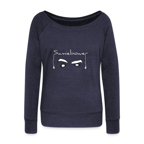 Bower Eyes (White) - Women's Wideneck Sweatshirt