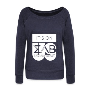 Its On Betas White - Women's Wideneck Sweatshirt