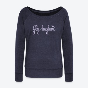 Fly Higher - Light Purple - Women's Wideneck Sweatshirt