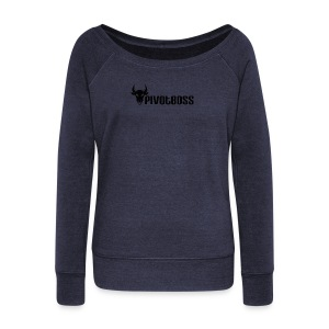 PivotBoss Black Logo - Women's Wideneck Sweatshirt