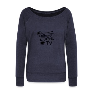 CETV Black Signature - Women's Wideneck Sweatshirt
