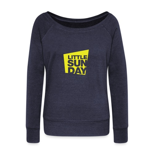 littleSUNDAY Official Logo - Women's Wideneck Sweatshirt