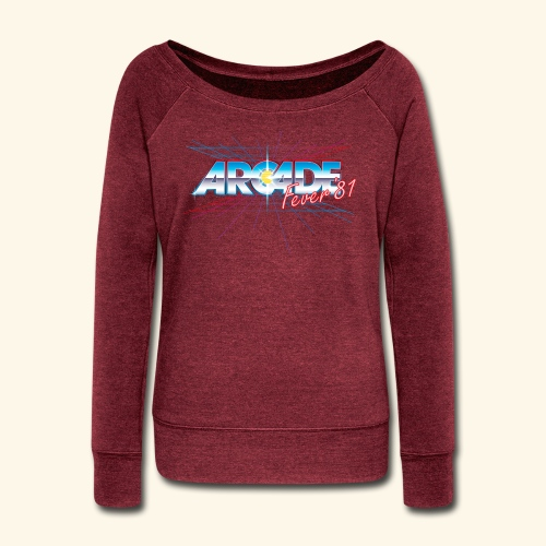 arcade fever 81 motiv2 - Women's Wideneck Sweatshirt