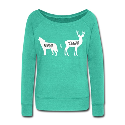 Padfoot&Prongs07 White - Women's Wideneck Sweatshirt
