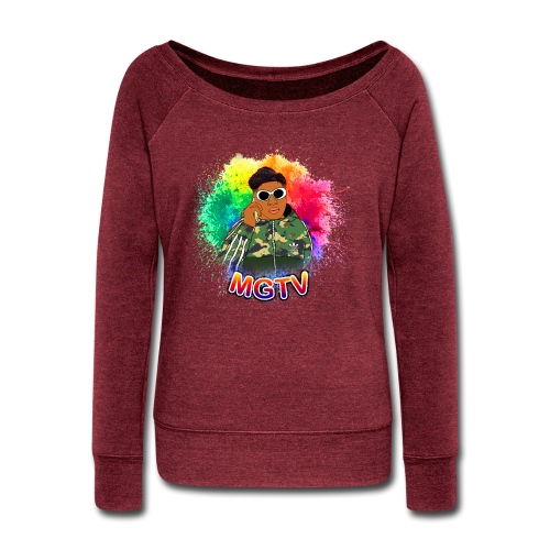 NEW MGTV Clout Shirts - Women's Wideneck Sweatshirt