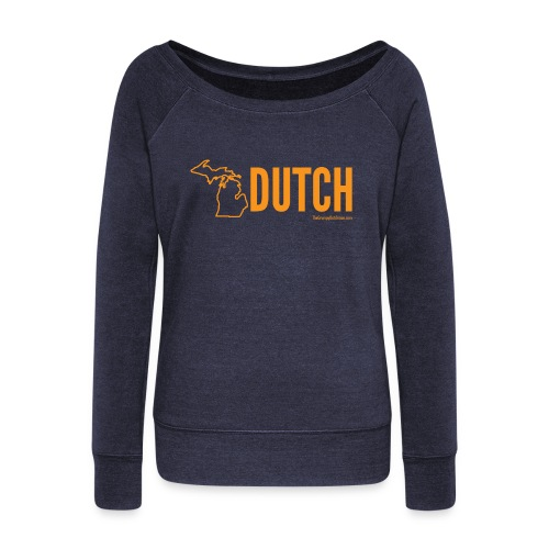 Michigan Dutch (orange) - Women's Wideneck Sweatshirt