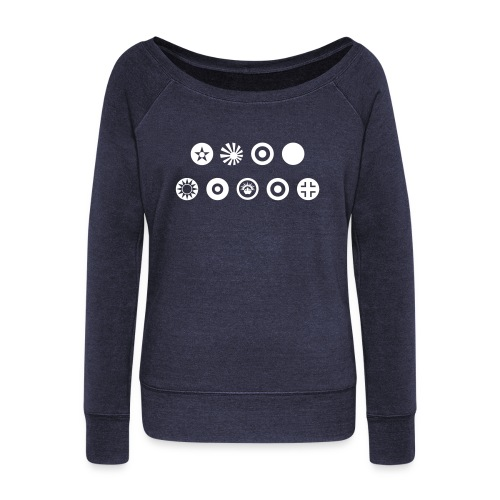 Axis & Allies Country Symbols - One Color - Women's Wideneck Sweatshirt