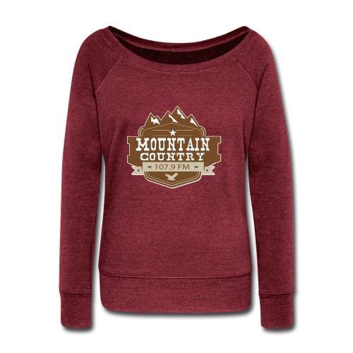 Mountain Country 107.9 - Women's Wideneck Sweatshirt