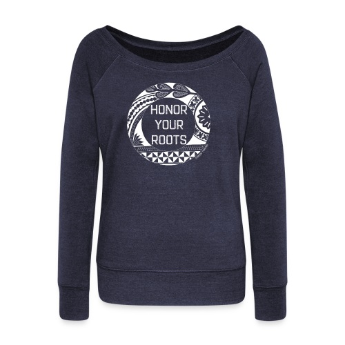 Honor Your Roots (White) - Women's Wideneck Sweatshirt