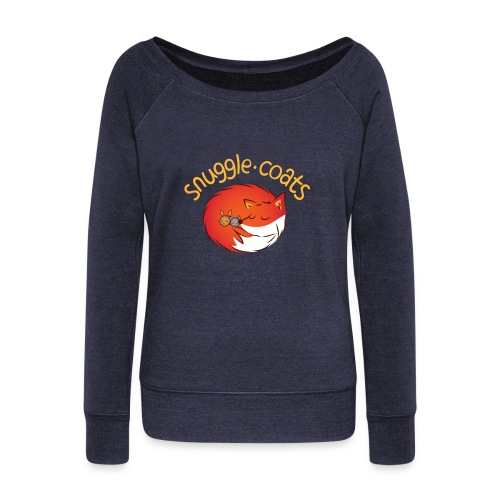 snugglecoats light png - Women's Wideneck Sweatshirt