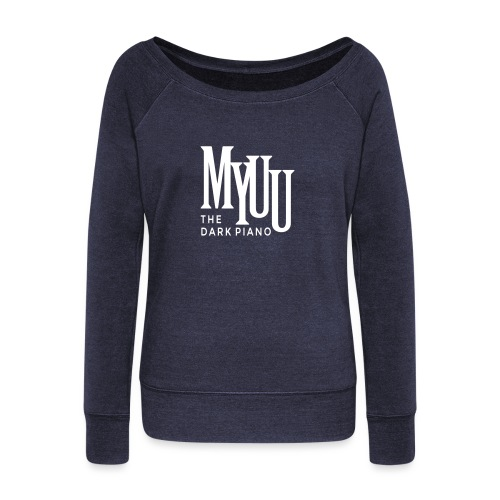 myuu Logo DarkPiano final - Women's Wideneck Sweatshirt