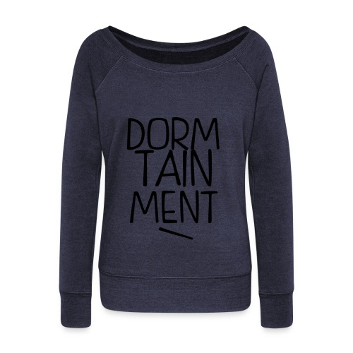 dorm fish 2 - Women's Wideneck Sweatshirt