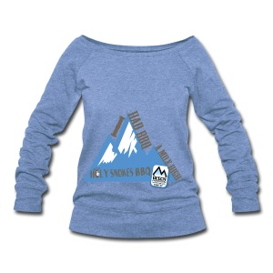 BBQ A Mile High - Women's Wideneck Sweatshirt