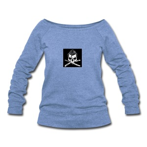 Greaser skull - Women's Wideneck Sweatshirt