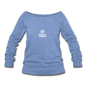 Long-sleeve t-shirt with small white OPA logo - Women's Wideneck Sweatshirt