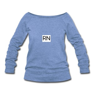 RN_Logo_small - Women's Wideneck Sweatshirt