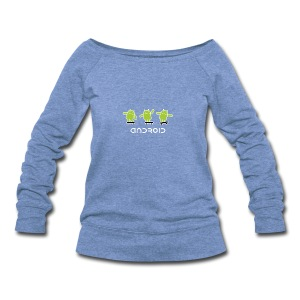 android logo T shirt - Women's Wideneck Sweatshirt