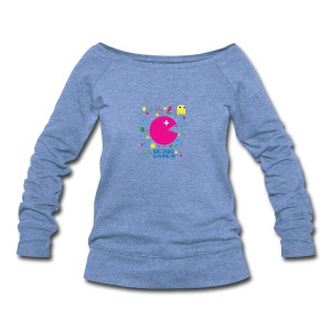 RETRO GAMER - Women's Wideneck Sweatshirt