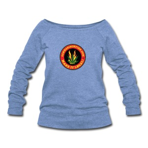 Make Cannabis Legal Cannabis Tshirts 420 wear - Women's Wideneck Sweatshirt
