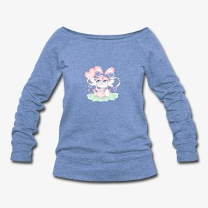 Cute lil bunny - Women's Wideneck Sweatshirt