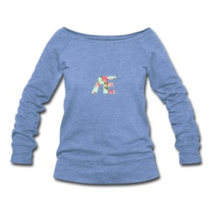 AE Floral design - Women's Wideneck Sweatshirt