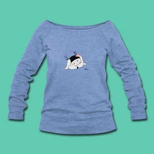 Sleepy Jackalope Annette - Women's Wideneck Sweatshirt