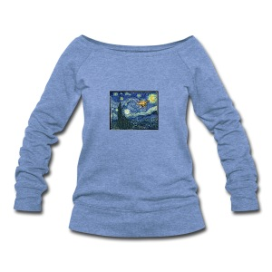 Starry Night Drone - Women's Wideneck Sweatshirt