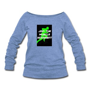 muscle movement - Women's Wideneck Sweatshirt