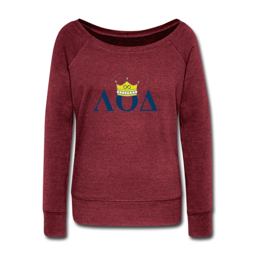 Crown Letters - Women's Wideneck Sweatshirt